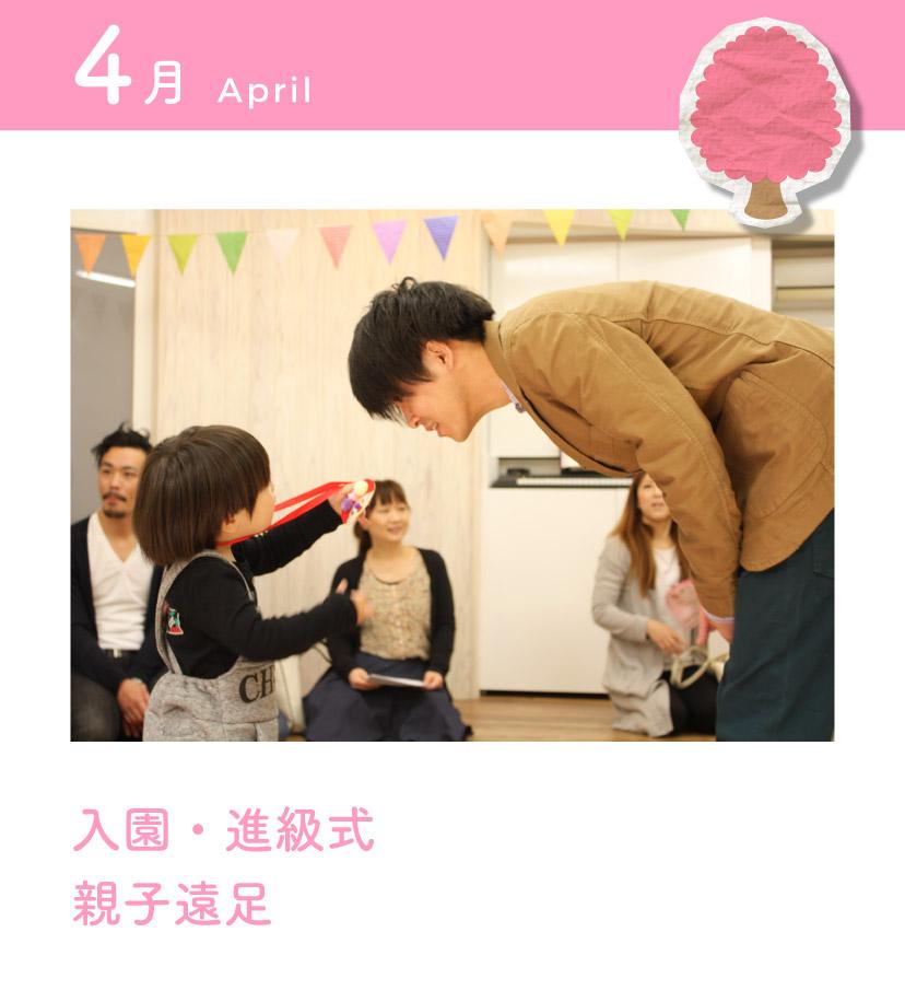 4月 入園式・親子遠足
